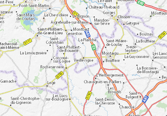 Mapa Plano Vieillevigne