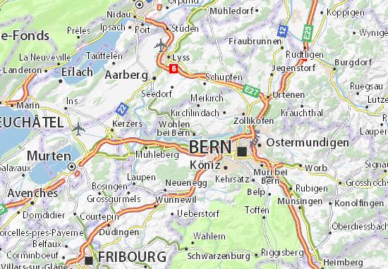Carte-Plan Wohlen bei Bern