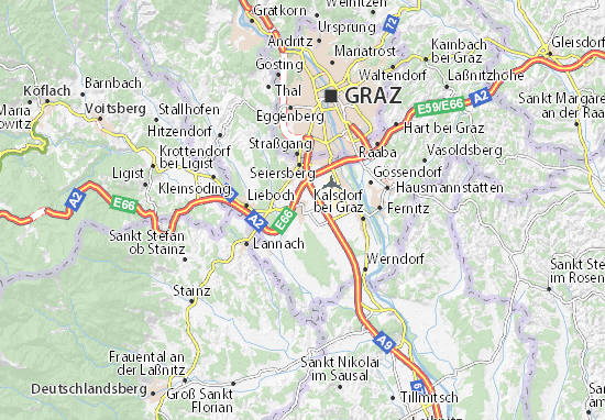 Karte Stadtplan Unterpremstätten