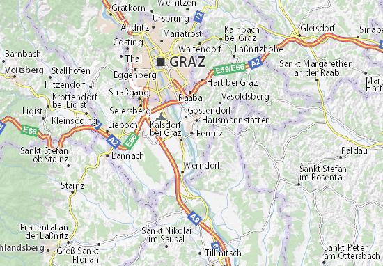 Karte Stadtplan Fernitz