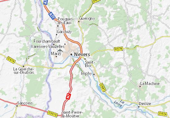 Kaart Plattegrond Saint-Éloi
