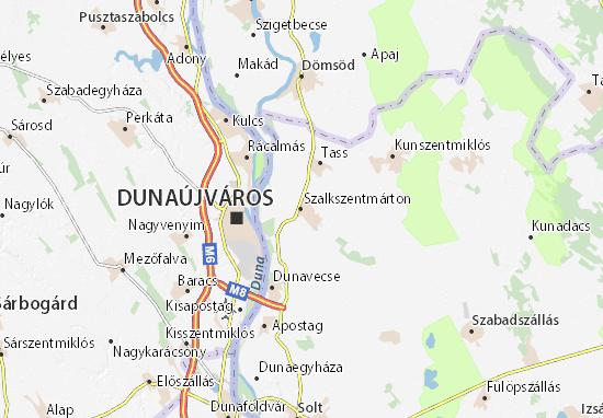 Szalkszentmárton Map