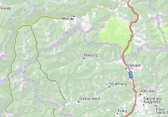 Carte-Plan Metnitz