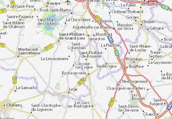 Mapa Plano Saint-Philbert-de-Bouaine