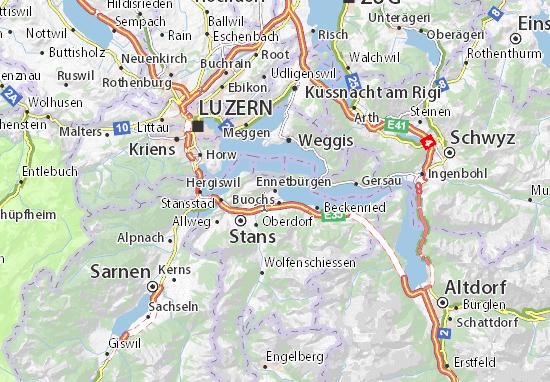 Mapas-Planos Ennetbürgen