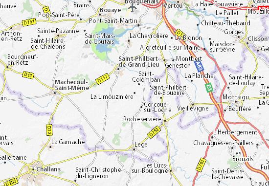 La Limouzinière Map
