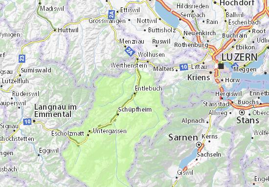 Mapa Plano Entlebuch