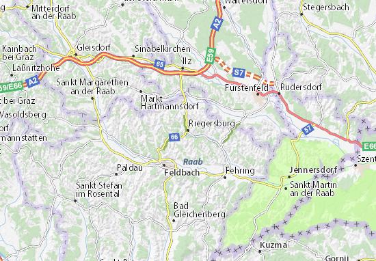 Mapa Plano Riegersburg