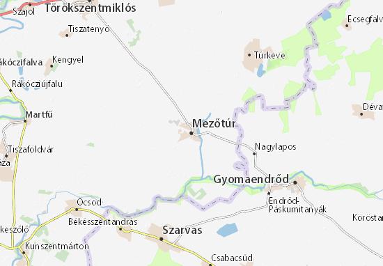 Mezőtúr Map