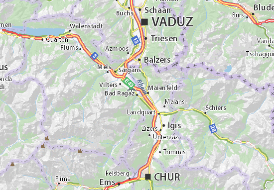 Bad Ragaz Map