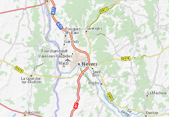 Kaart Plattegrond Coulanges-lès-Nevers