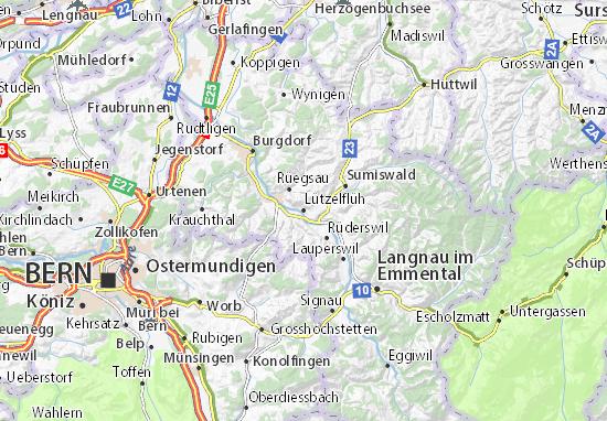 Lützelflüh Map