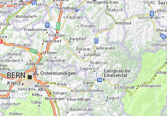 Mapa Plano Lützelflüh