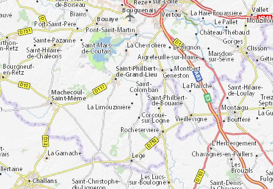 Mapa Plano Saint-Colomban
