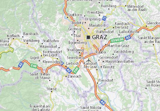 Kaart Plattegrond Seiersberg