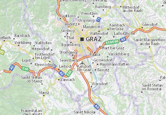 Karte Stadtplan Feldkirchen bei Graz