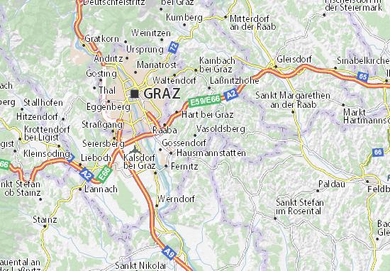 Karte Stadtplan Vasoldsberg