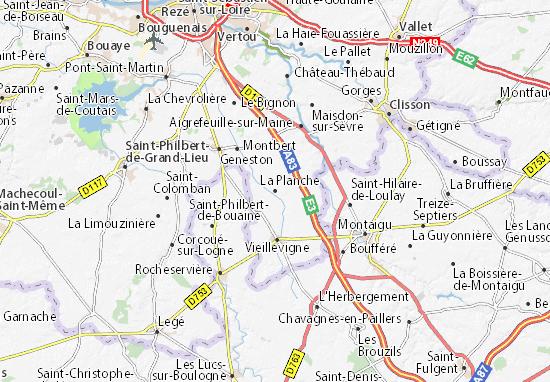 Mapa Plano La Planche