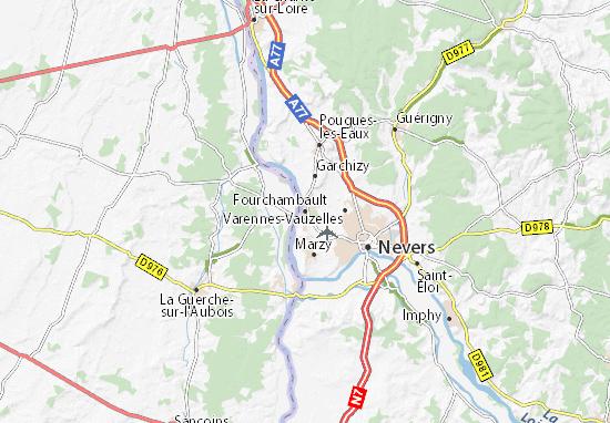 Fourchambault Map