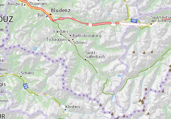 Sankt Gallenkirch Map