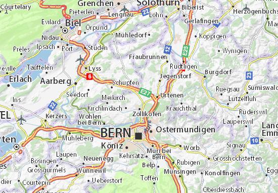 Kaart Plattegrond Münchenbuchsee