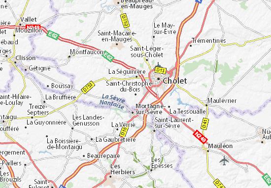Carte-Plan Saint-Christophe-du-Bois