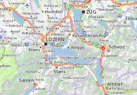 Karte Stadtplan Weggis