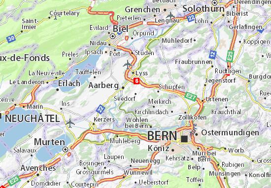 Karte Stadtplan Seedorf