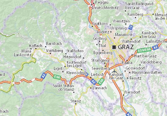 Mapa Plano Hitzendorf