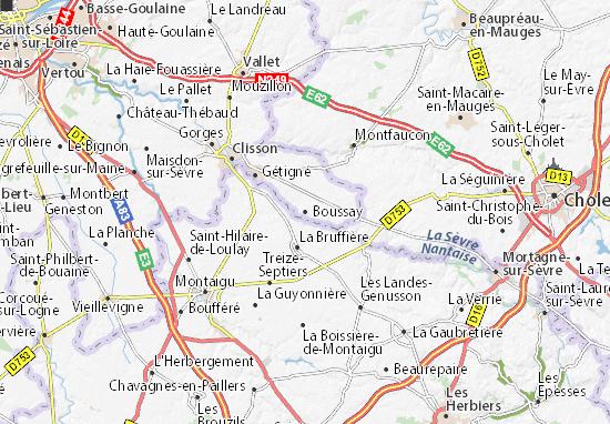 Mapa Plano Boussay