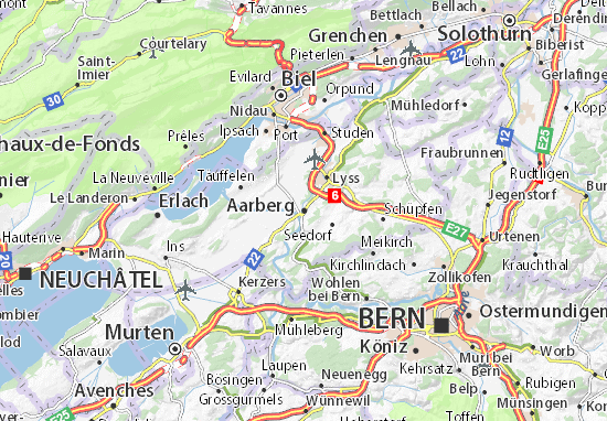 Carte-Plan Aarberg