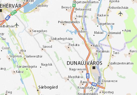 Perkáta Map