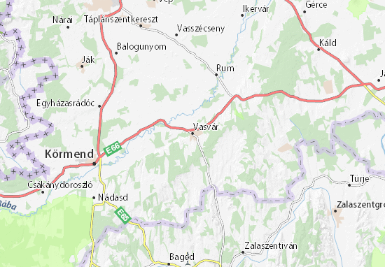 Karte Stadtplan Vasvár