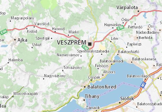 Mapas-Planos Nemesvámos