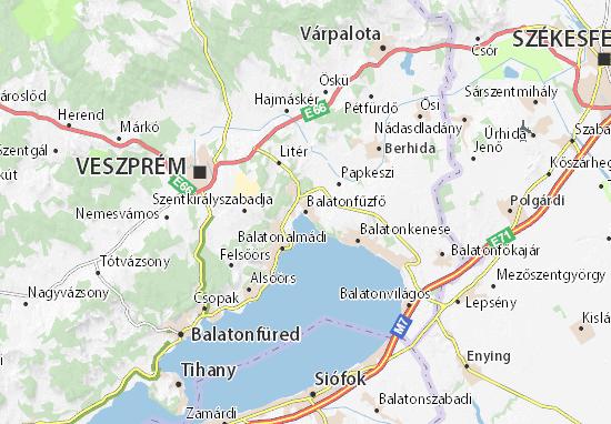 Balatonfűzfő Map