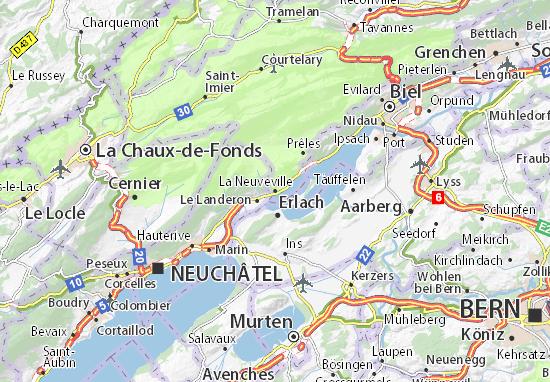 Carte-Plan La Neuveville