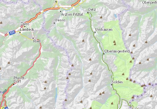 Pitztal Karte.Karte Stadtplan Sankt Leonhard Im Pitztal Viamichelin