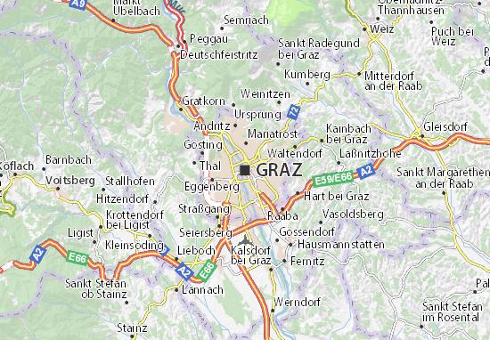 Karte Stadtplan Graz