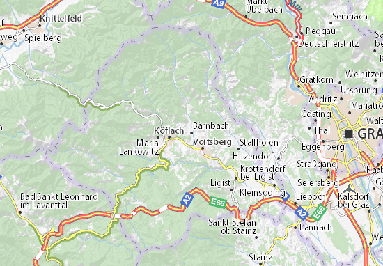 Mapa Plano Bärnbach