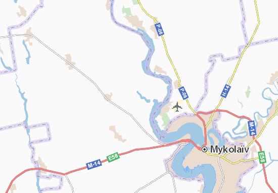 Kam'yana Balka Map