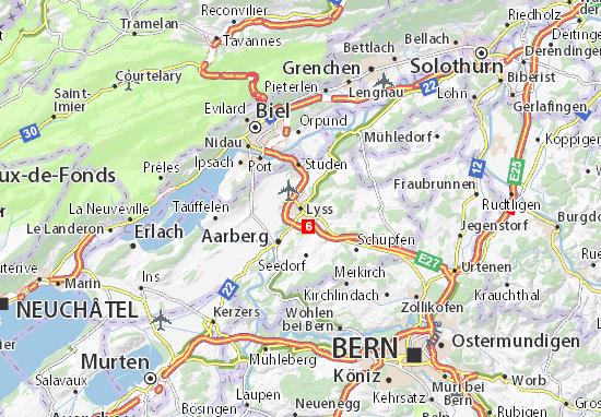 Karte Stadtplan Lyss