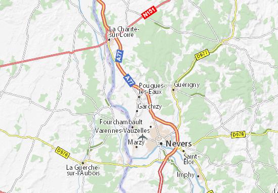 Mapas-Planos Pougues-les-Eaux