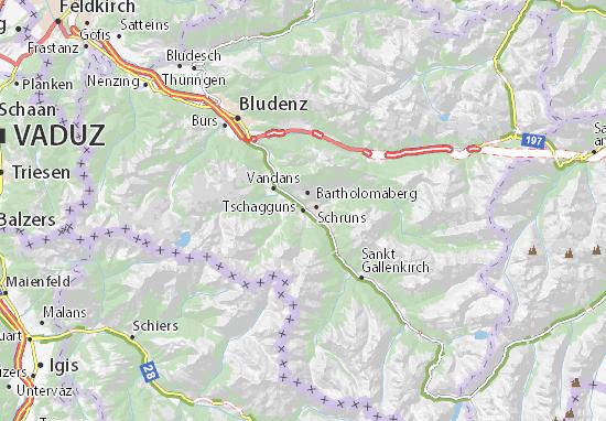 Tschagguns Map