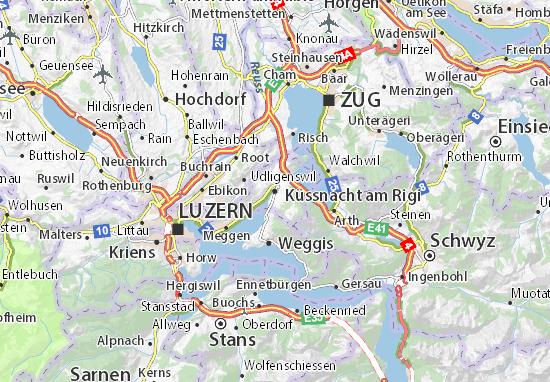 Karte Stadtplan Küssnacht am Rigi