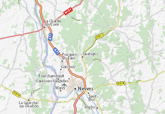 Kaart Plattegrond Guérigny