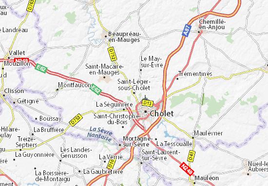 Mapas-Planos Saint-Léger-sous-Cholet