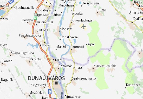 Dömsöd Map