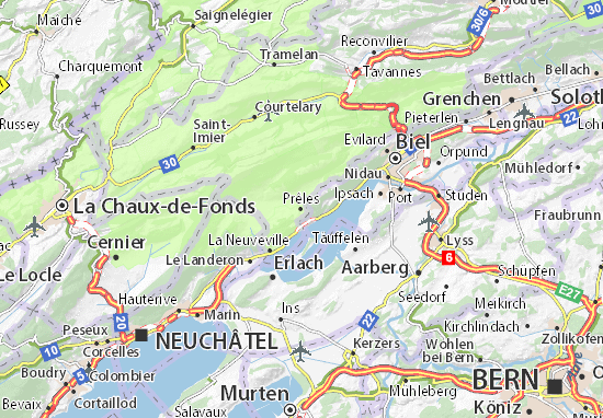 Karte Stadtplan Prêles