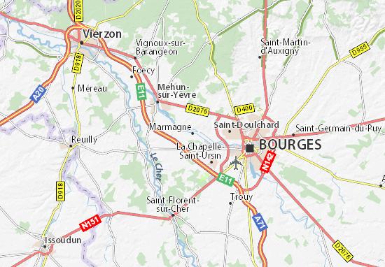 Carte-Plan Marmagne