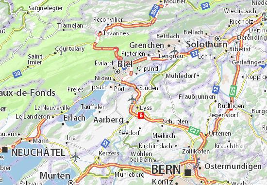 Karte Stadtplan Unter-Worben